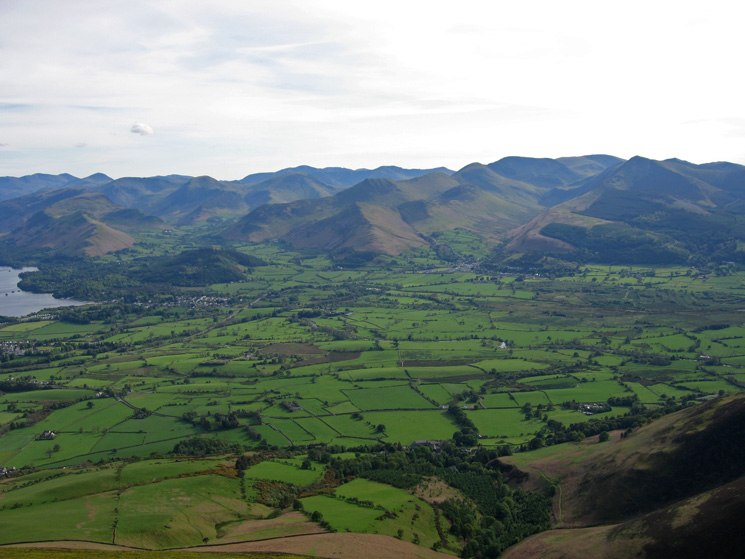 The north western fells from my ascent of Skiddaw Little Man
