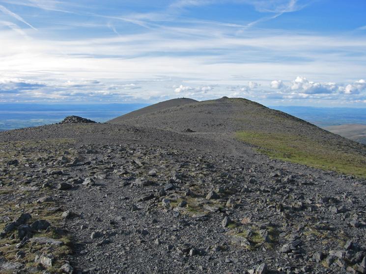 Looking north along Skiddaw's summit ridge