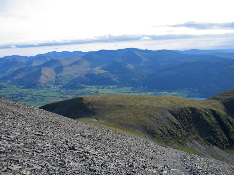Looking over Carl Side to the north western fells