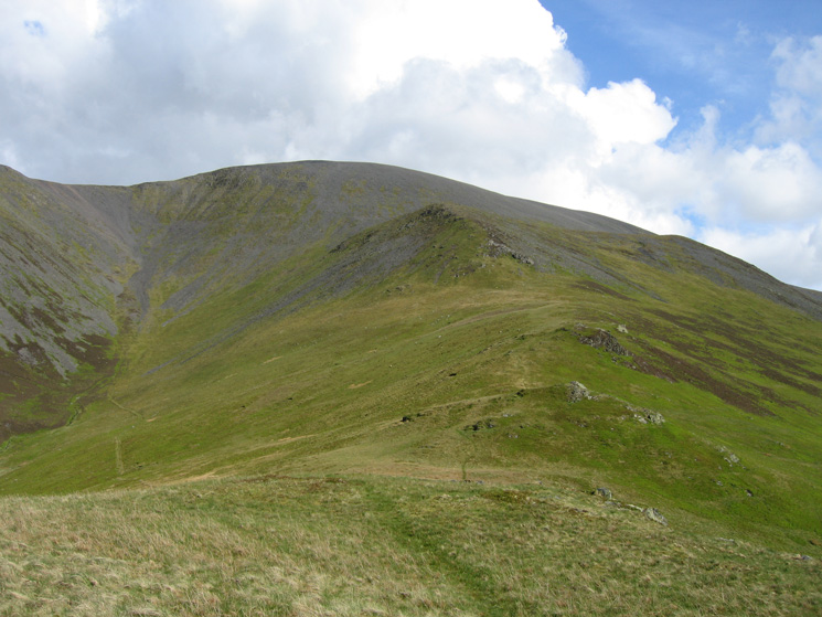 The ridge to Randel Crag and Skiddaw