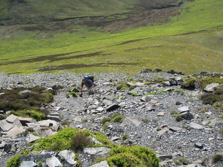 The path up by the side of Randel Crag