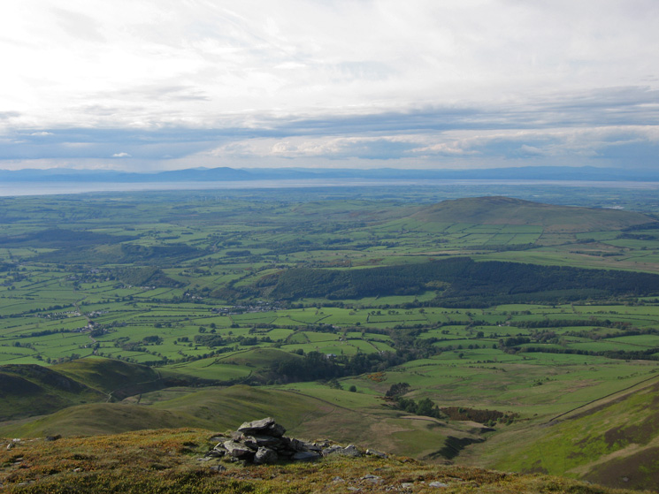 Scotland, the Solway Firth and Binsey from the top of Randel Crag