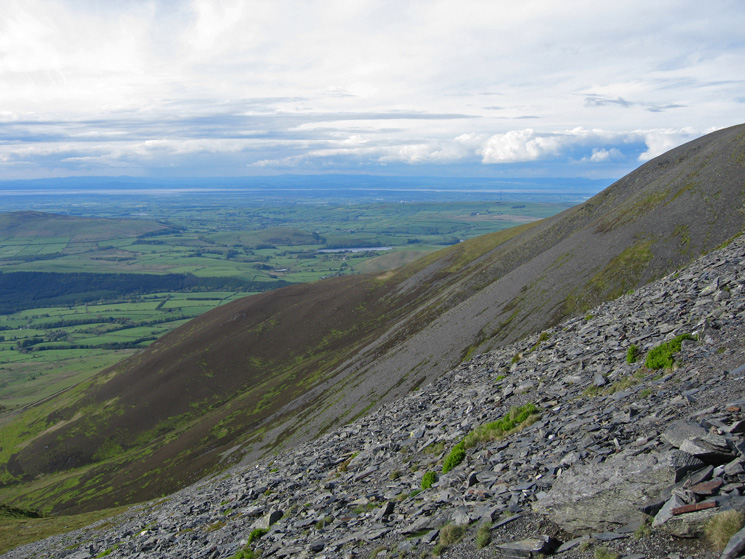 The view north from high up on Skiddaw's northwest ridge