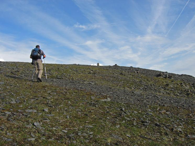 Approaching Skiddaw's summit