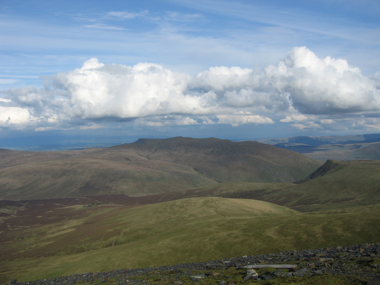 Blencathra from Skiddaw's summit