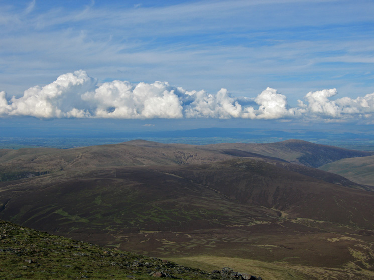 The northern Lakeland fells from Skiddaw's summit