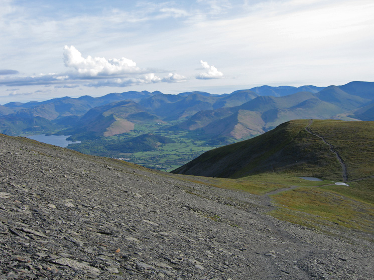 The view south from near Carlside Tarn