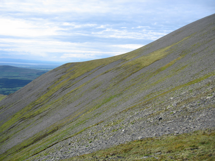 Our line of ascent up Skiddaw's northwest ridge basically followed the skyline