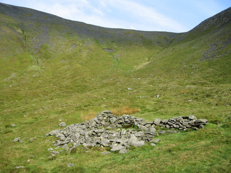 Looking back up to Carlside col from Southerndale