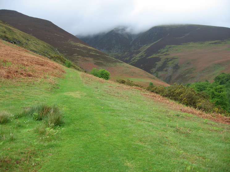 Above Millbeck again but this time the plan is to follow Slades Beck to Carlside col