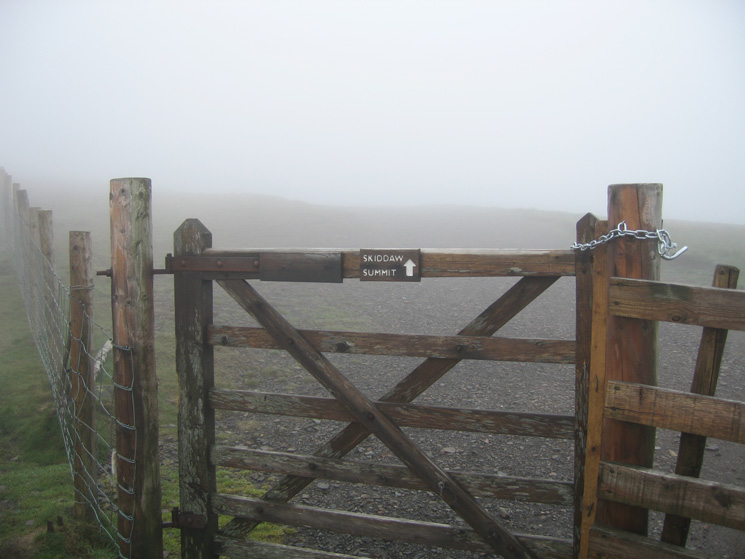 Straight on then! The Jenkin Hill Gate on the main superhighway up Skiddaw