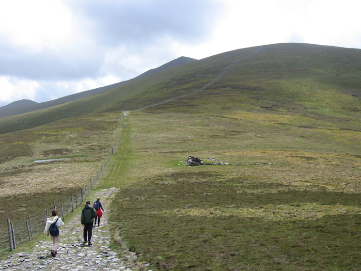 The route up Skiddaw from Bakestall