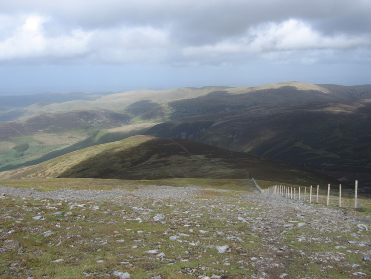 Looking back to Bakestall as we head up Skiddaw