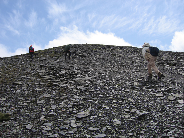 The final part of the climb to Skiddaw's north top