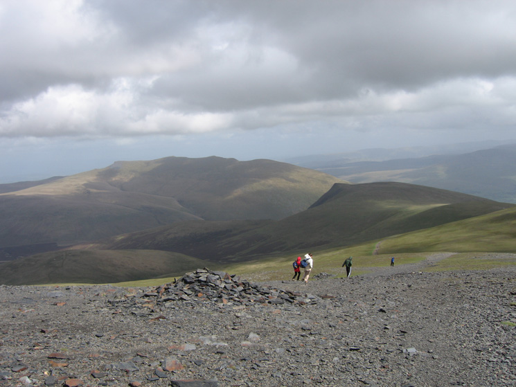 Heading south with Blencathra and Lonscale Fell ahead