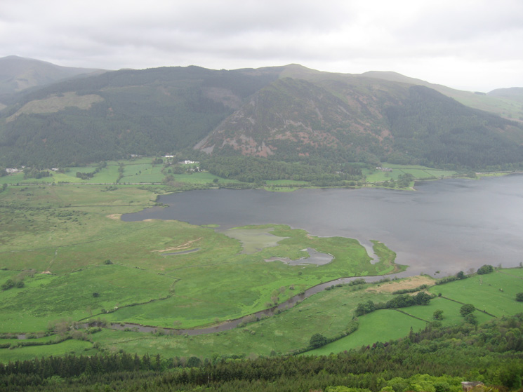 Looking across Bassenthwaite Lake to Whinlatter Forest and Barf  from Dodd's summit