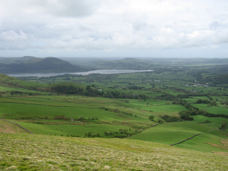 The foot of Bassenthwaite Lake from our descent off Cockup