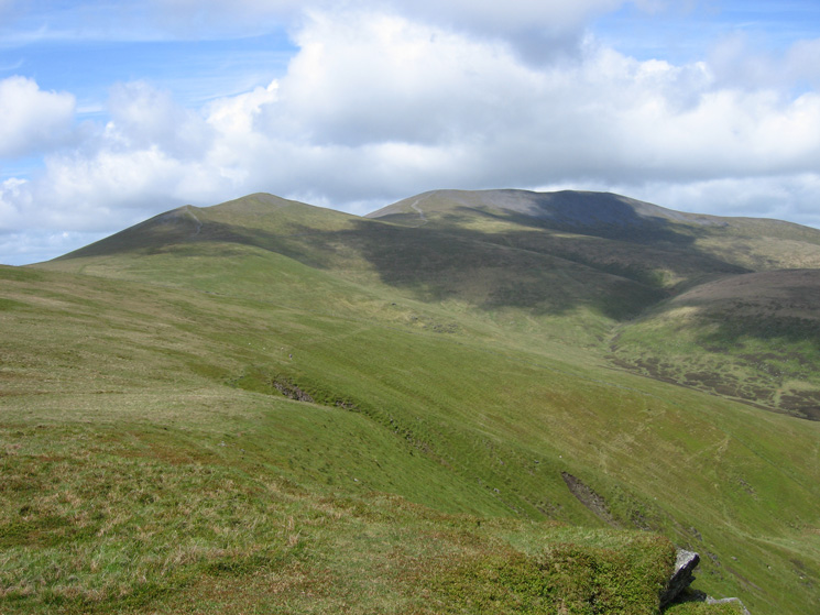 Skiddaw Little Man and Skiddaw from Lonscale Fell