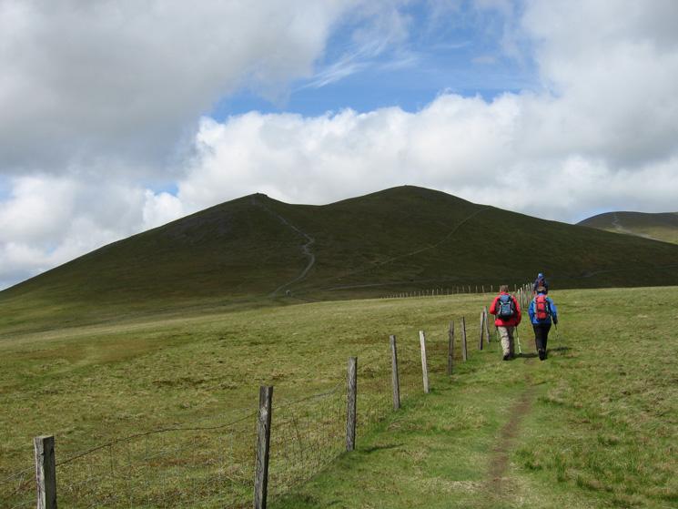 Traversing Jenkin Hill as we head for Skiddaw Little Man
