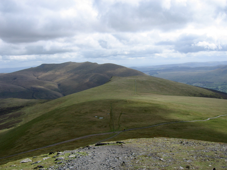 Lonscale Fell with Blencathra beyond from our ascent of Little Man