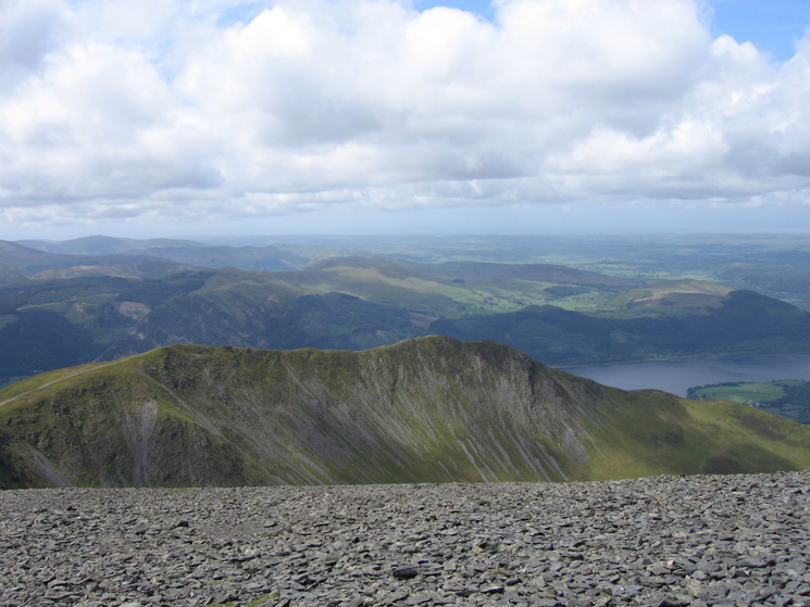 Long Side and Ullock Pike from Skiddaw's summit