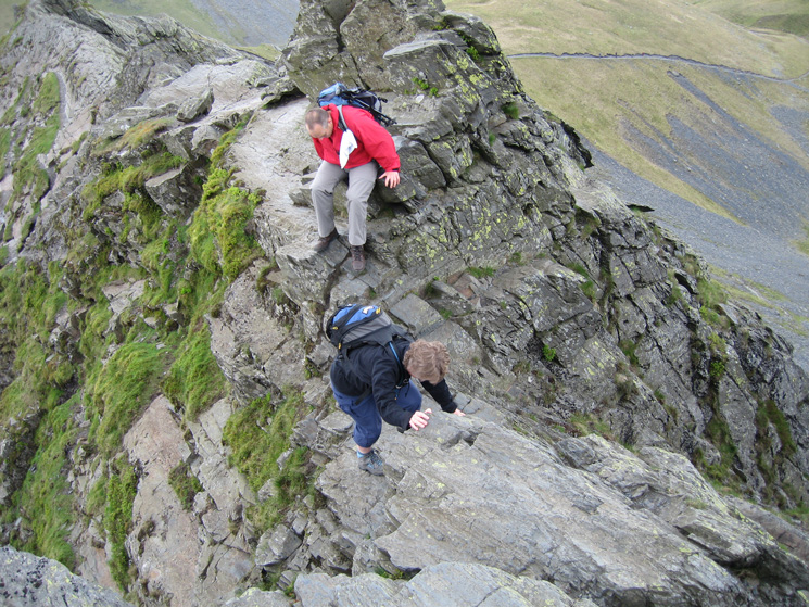 On Sharp Edge after just passing the Pillar-box