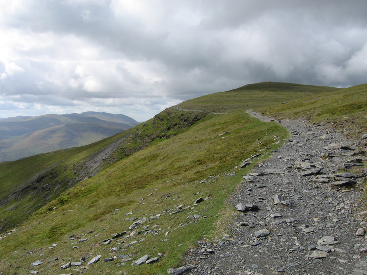 The way ahead to Blencathra's summit from the top of Foule Crag