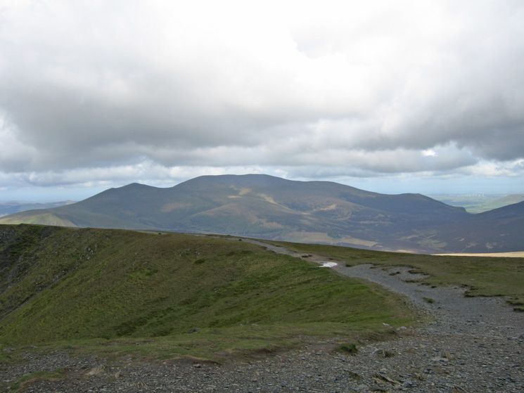 Skiddaw from Blencathra's summit