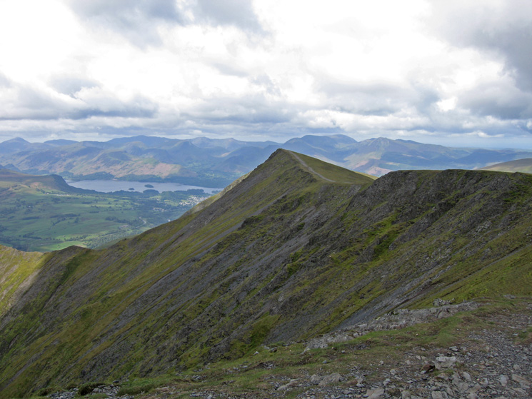 Gategill Fell Top with Derwent Water and the north western fells beyond
