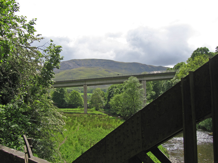 Clough Head and the A66 road bridge from the old Keswick Railway line