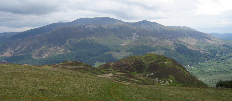 Barf with the Skiddaw fells behind from Lord's Seat