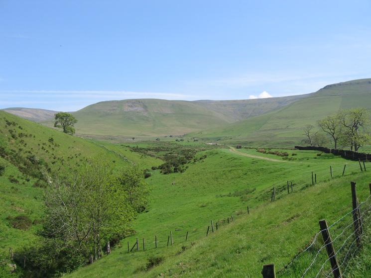 High Cap (left), Kirkdale and Kirkland Fell