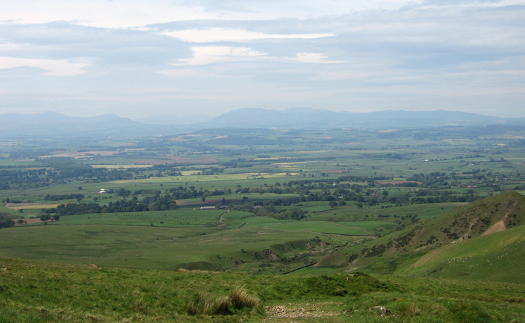 Looking across the Vale of Eden to the lakeland fells