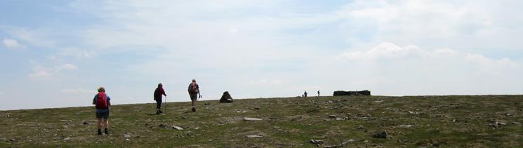 Approaching Cross Fell's summit