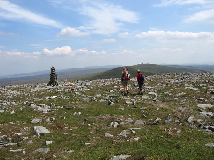 Leaving Cross Fell's summit as we head south towards Tees Head