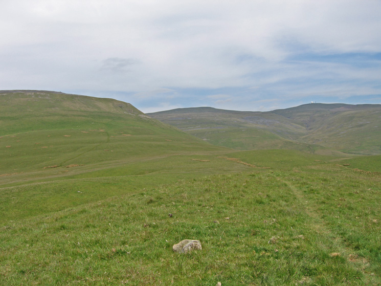 Wildboar Scar, Little Dun Fell and Great Dun Fell from the summit of Grumply Hill