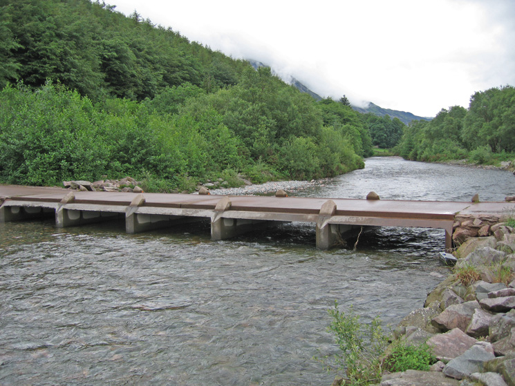 Irish Bridge, across the River Liza