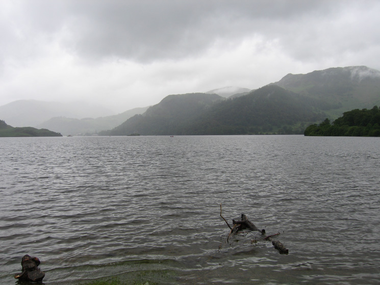 Looking across Ullswater to Glenridding Dodd (centre) and Sheffield Pike (right)