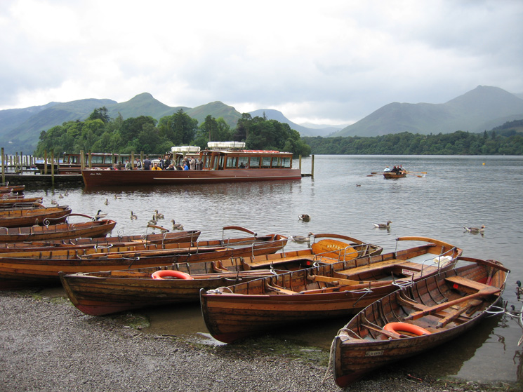 The Derwent Water landing stages at Keswick