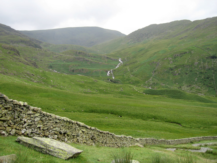 High Street and Rough Crag with lots of water in Blea Water Beck