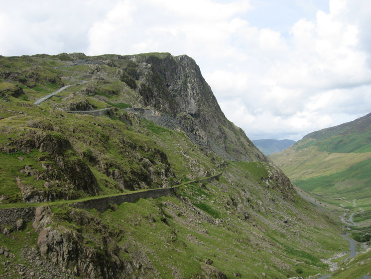 Honister Crag from Honister Pass