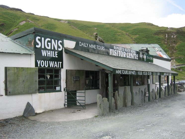 The Visitor Centre at Honister Slate Mine at the top of Honister Pass