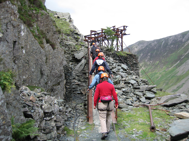 Back out in the open and heading up to the start of the via ferrata