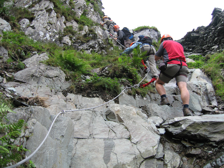 No breaking you in gently, this scramble section straight after the bridge was in fact the hardest part of the whole route