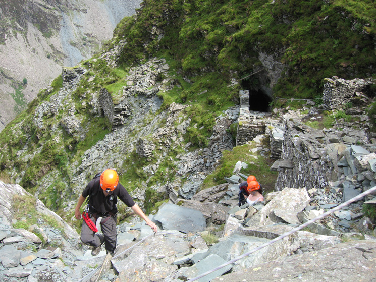 Nearing the top of the via ferrata, we had come out of the tunnel on the right