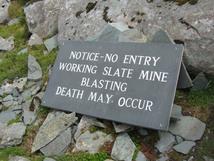 You have been warned! No heading down the via ferrata then!