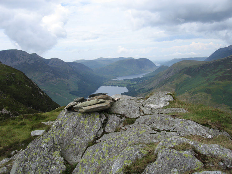 The Buttermere valley from Black Star's summit