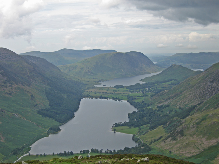 Buttermere from Fleetwith Pike's summit