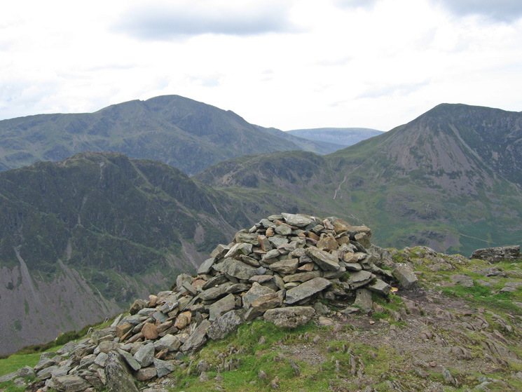 Haystacks, Seat and High Crag with Pillar behind from Fleetwith Pike's summit