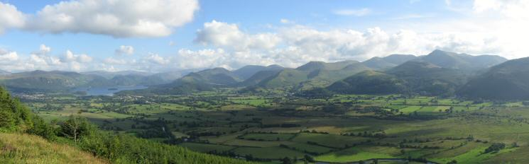Derwent Water and the north western fells from Dodd